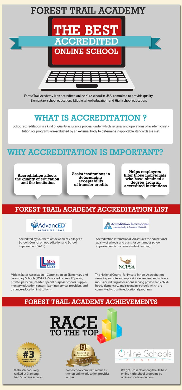 forest trail academy accreditation